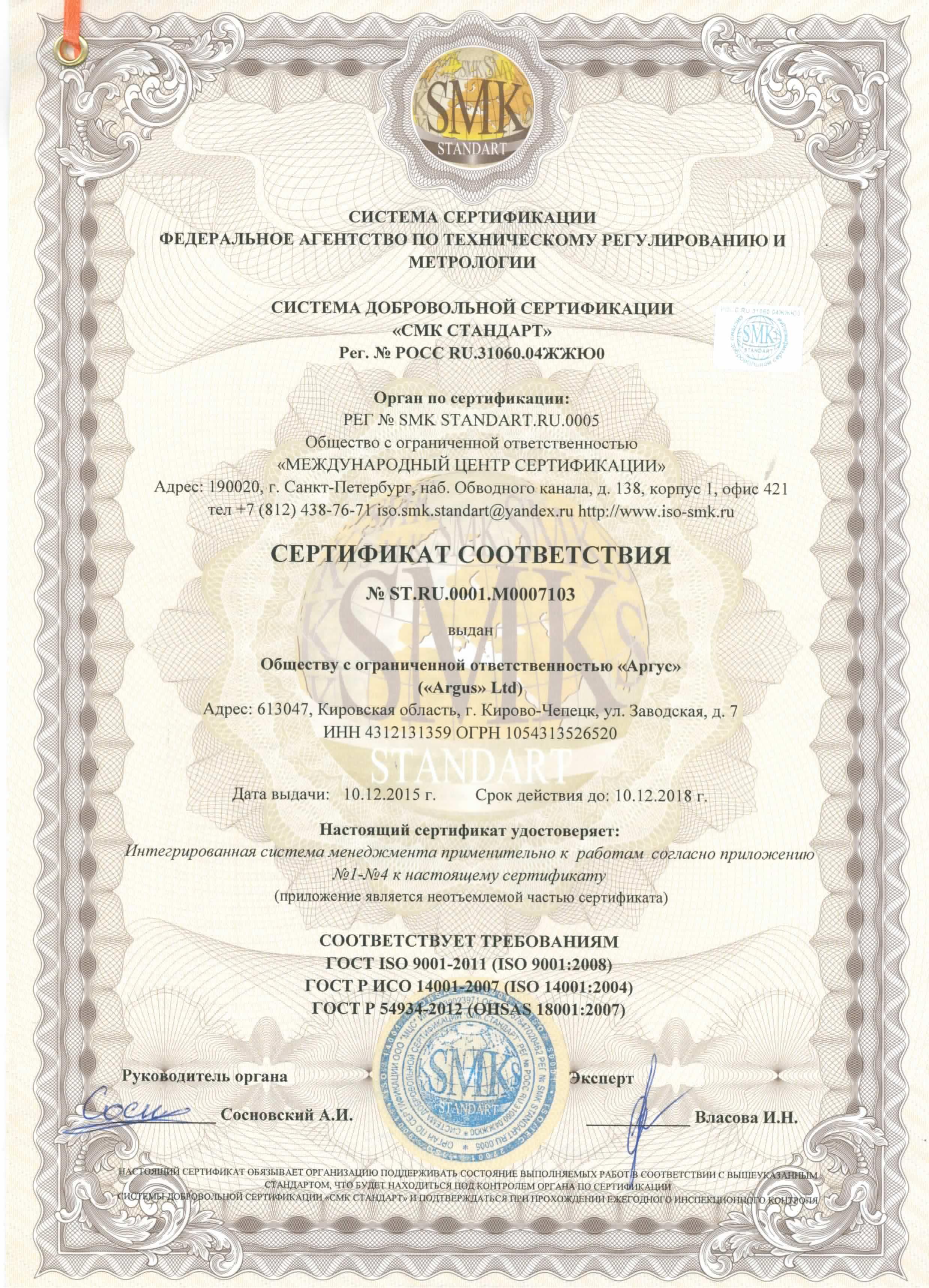 ИСО 14001 2007 в Кирово-Чепецке